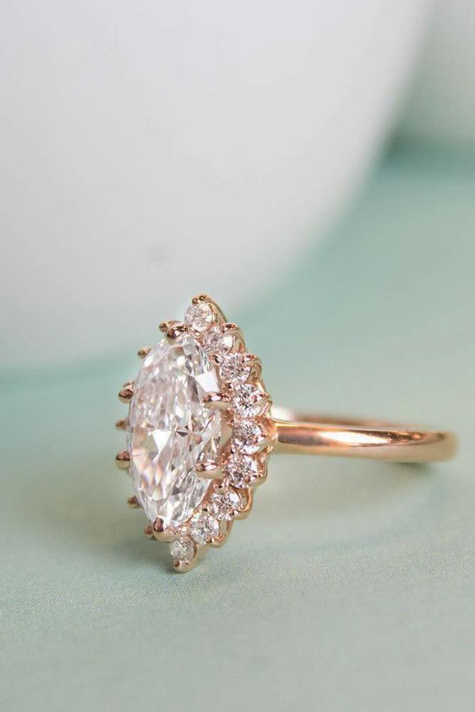 brilliant earth halo marquise diamond rose gold