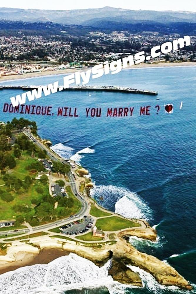 Beach Proposal Ideas Airplane Banner Proposal In The Sky