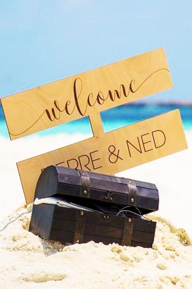 Beach Proposal Ideas Buried Treasure Wooden Chest