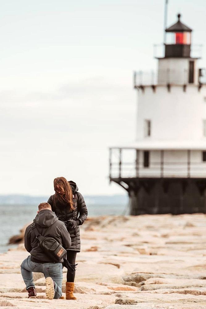 Beach Proposal Ideas Lighthouse Proposal Unique Moment