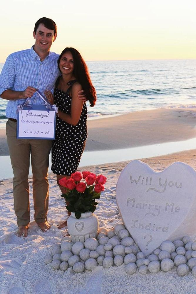 Beach Proposal Ideas Sand Sculpture Amazing Proposal On The Beach With Flowers