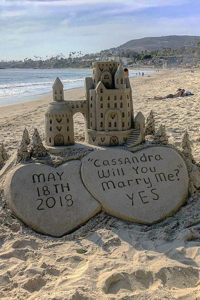 Beach Proposal Ideas Sand Sculpture Amazing Sand Castle On The Beach