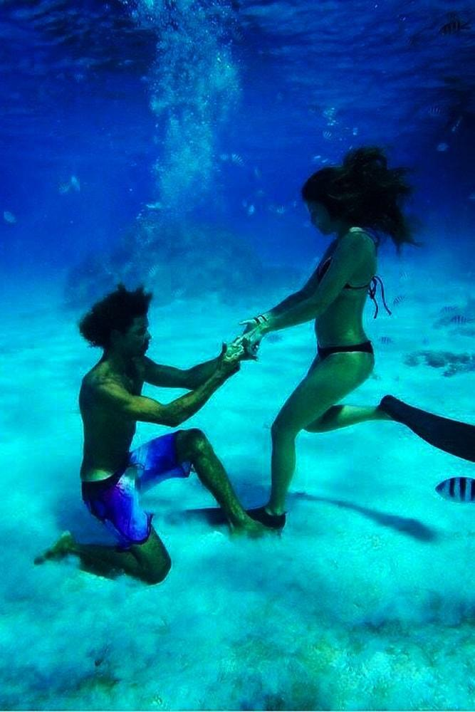 Beach Proposal Ideas Underwater Proposal Unforgetable Moment