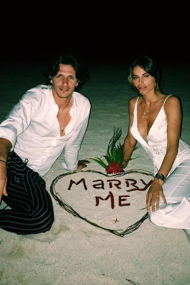 Beach Proposal Ideas Write It In The Sand Marry Me Beautiful Evening