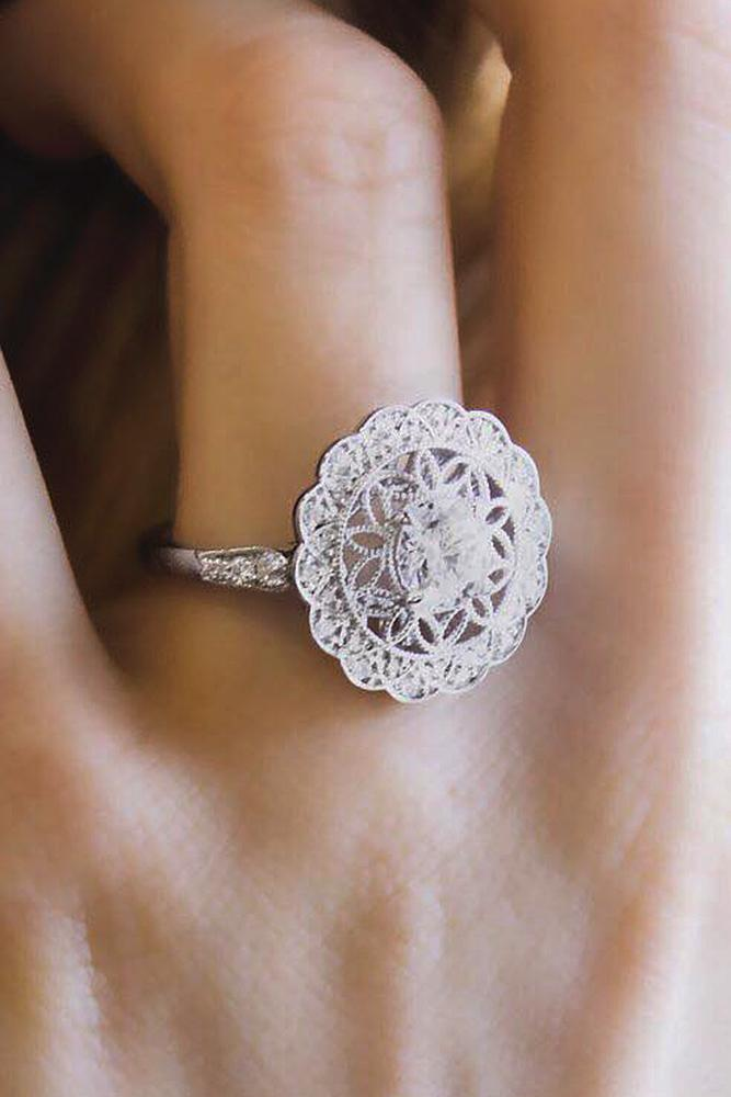 brilliant earth floral halo round cut white gold