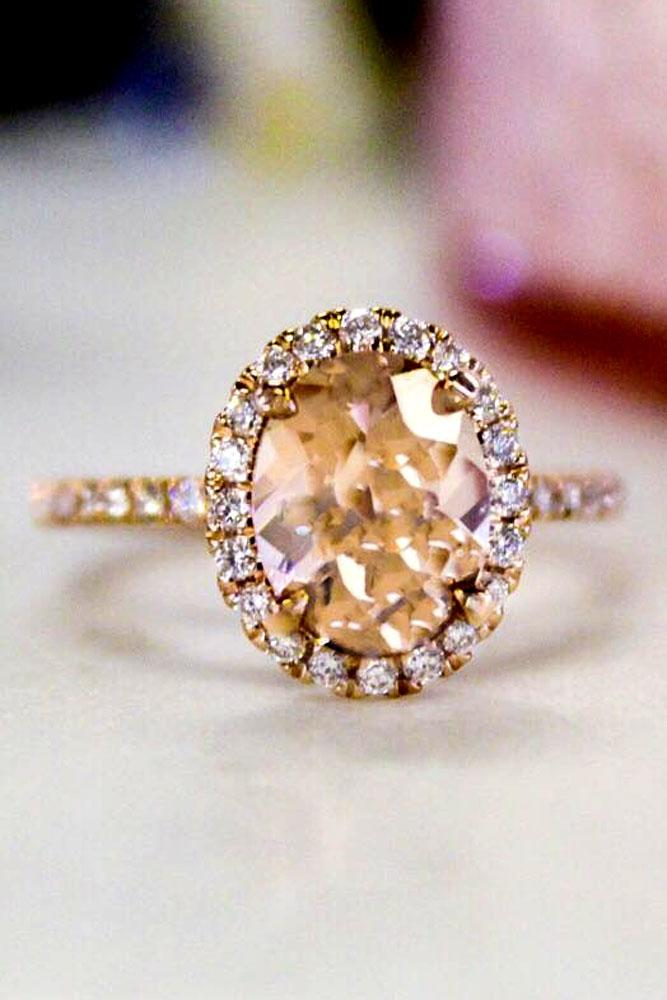 brilliant earth oval halo engagement ring rose gold