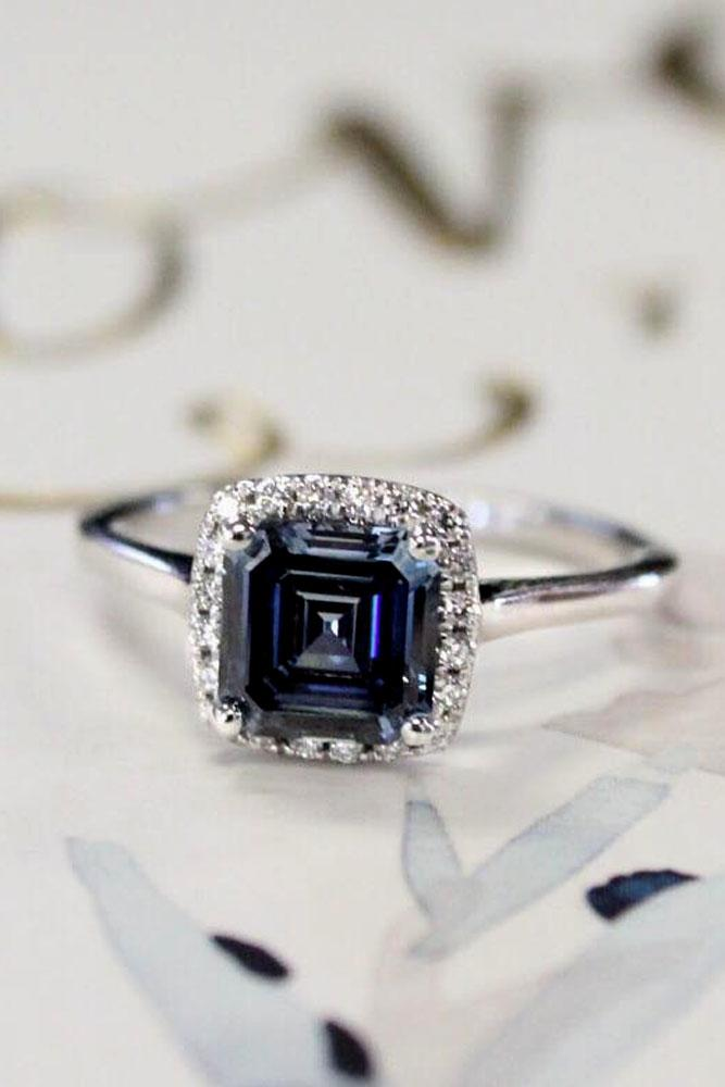 brilliant earth sapphire halo white gold engagement ring