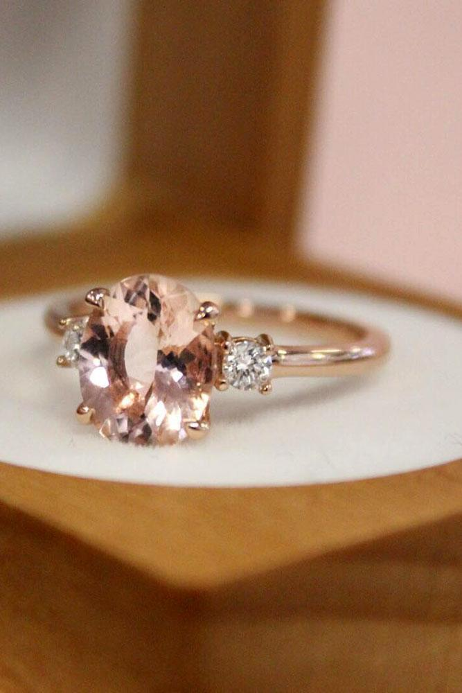brilliant earth three stones engagement ring rose gold