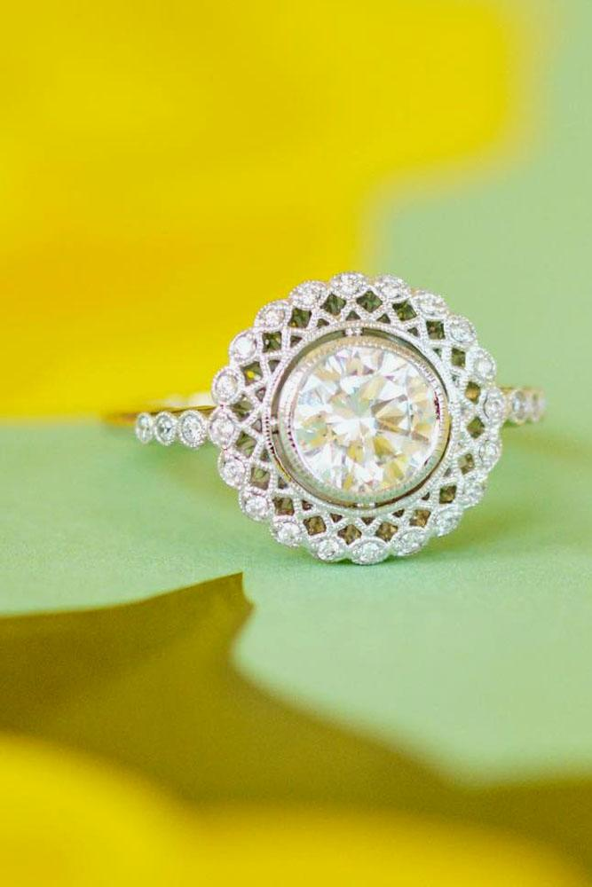 brilliant earth vintage engagement ring white gold diamonds
