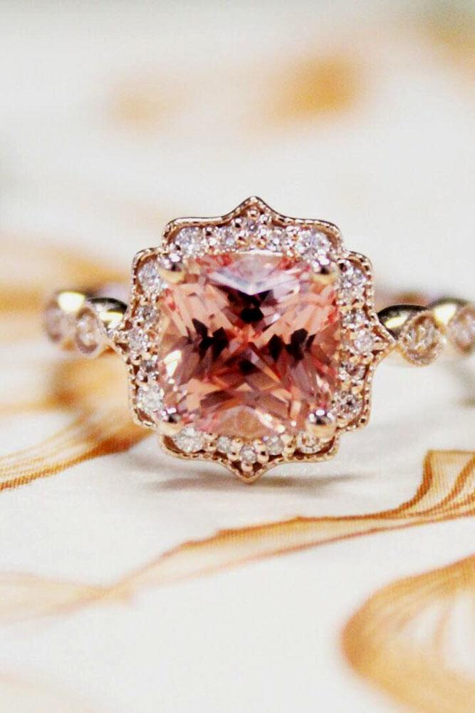 brilliant earth vintage round cut halo engagement ring rose gold
