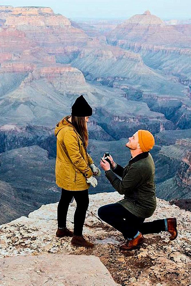 mountain proposal grand proposal at the grand canyon
