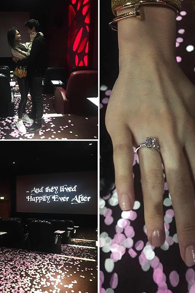 romantic ways to propose cinema proposal romantic engaged