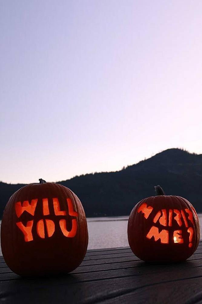 romantic ways to propose halloween proposal pumpkin