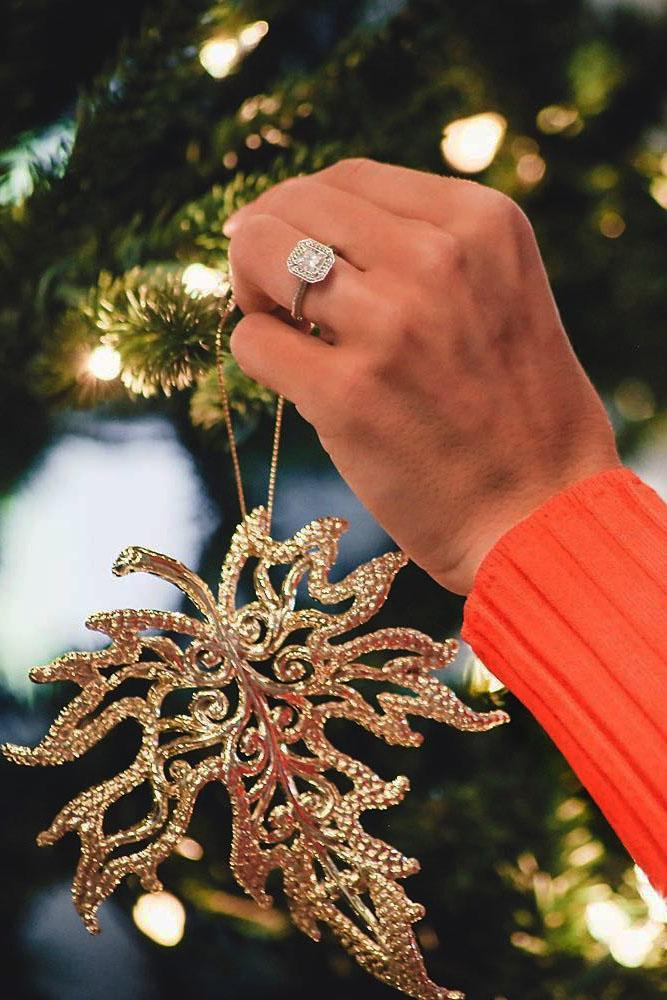 romantic ways to propose hand engagement ring christmas tree