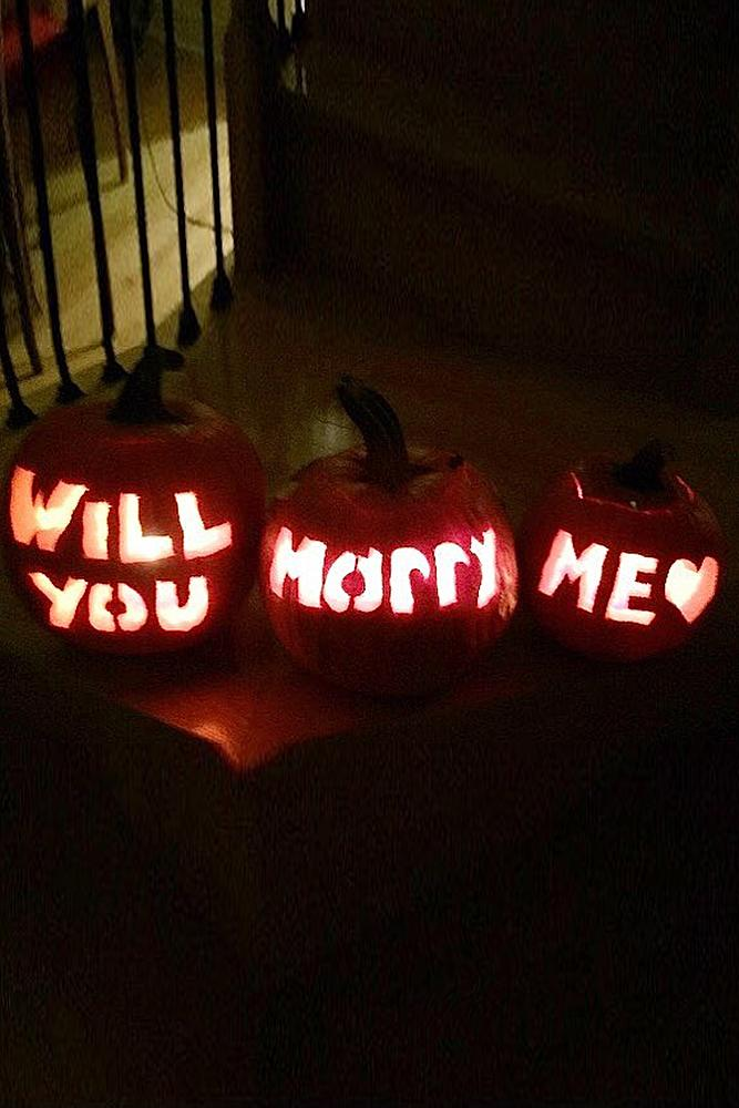 romantic ways to propose pumpkin halloween romantic