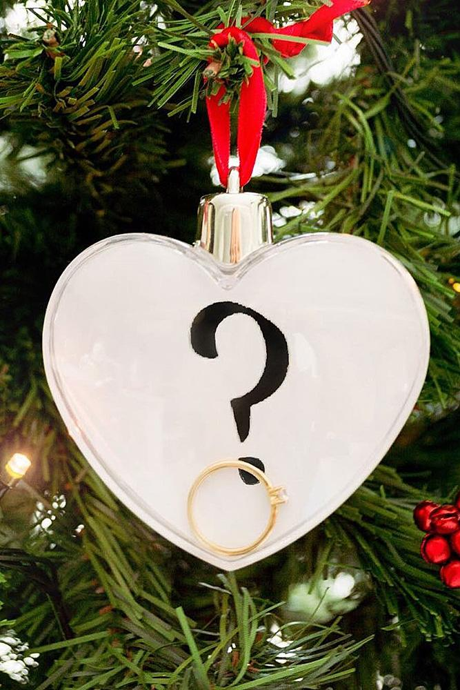 romantic ways to propose surprise proposal engagement ring christmas tree
