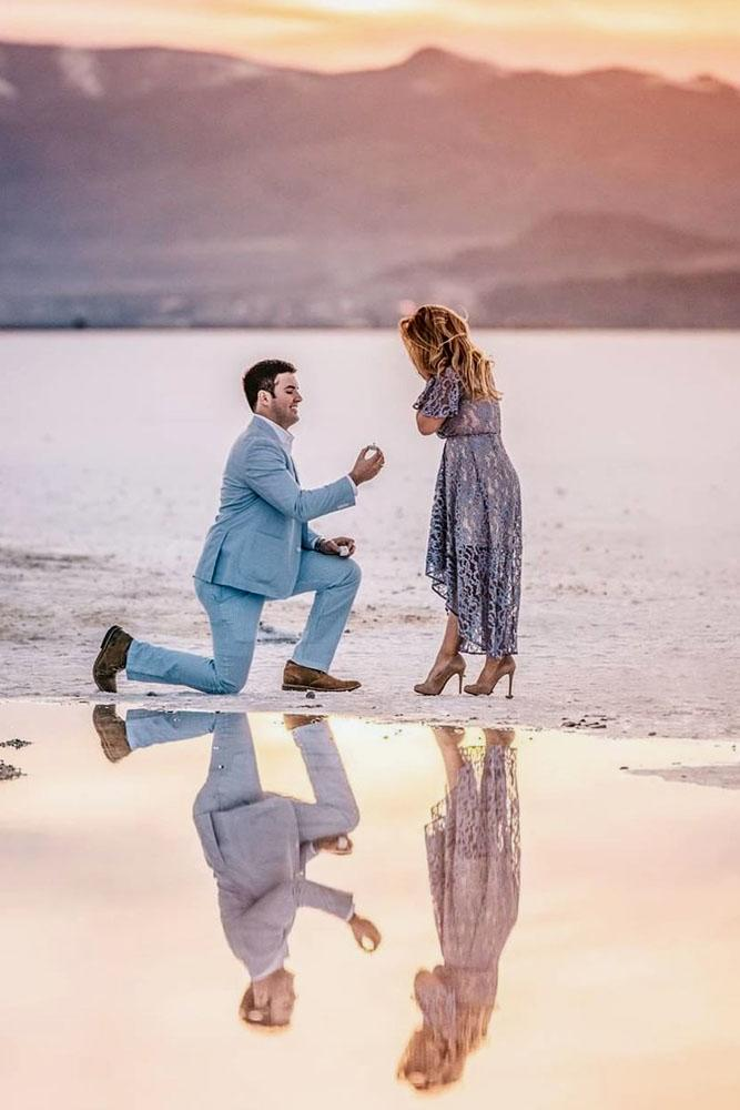 tender romantic beach proposal