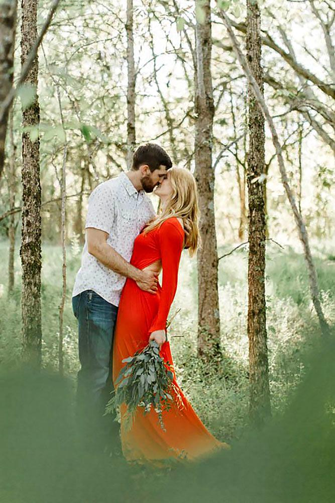 wedding proposal ideas in a park sweet forest engagement
