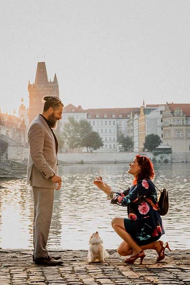 wedding proposal ideas in a park woman do engagement