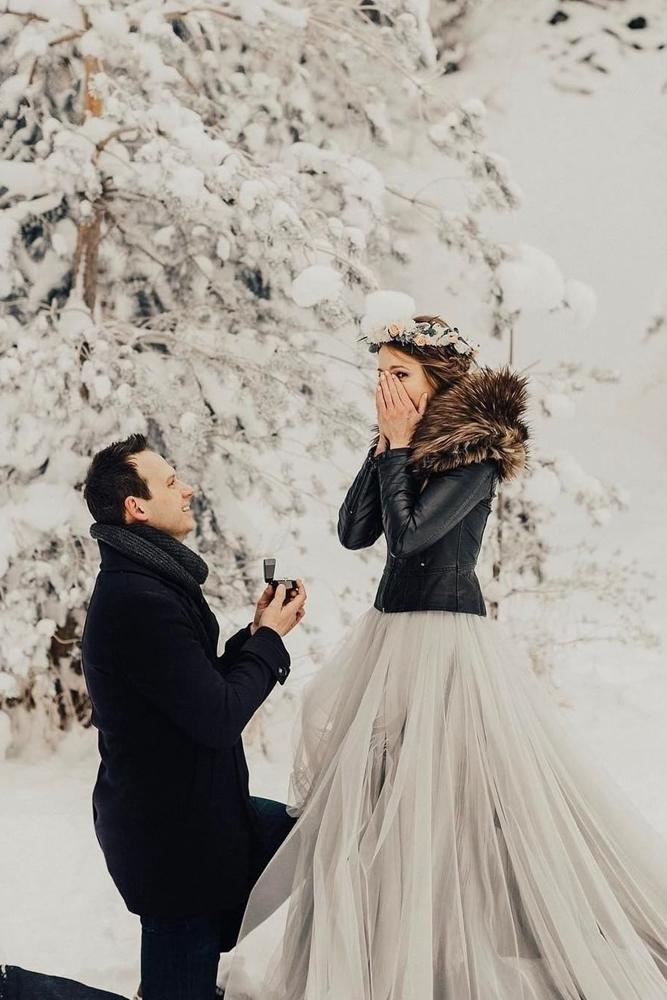winter proposal surprise