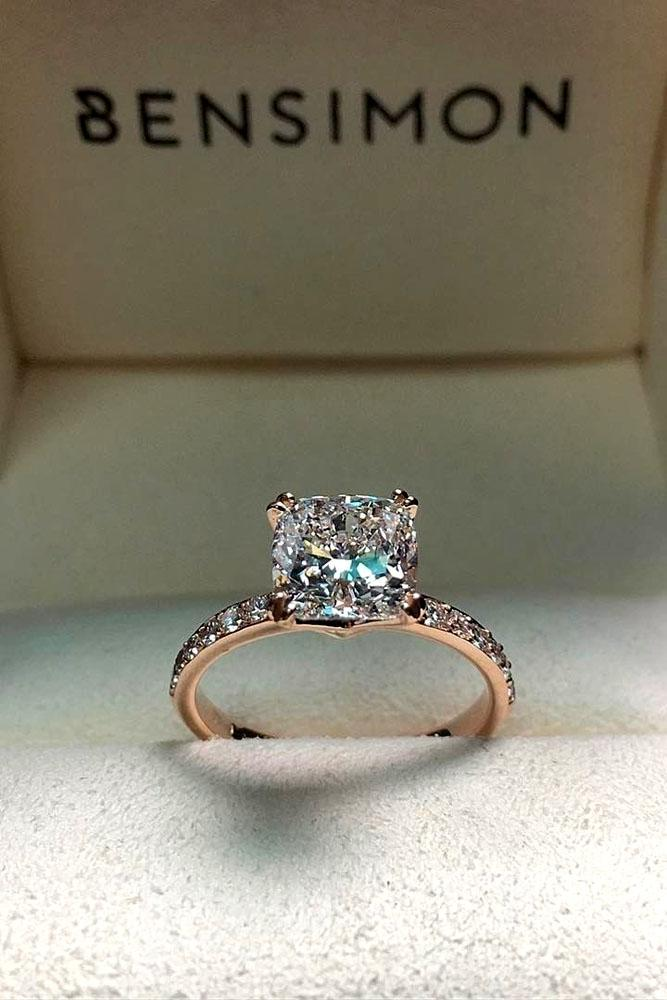 Pave Engagement Ring With Wedding Band