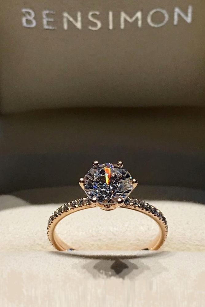 diamond engagement rings classic center diamond