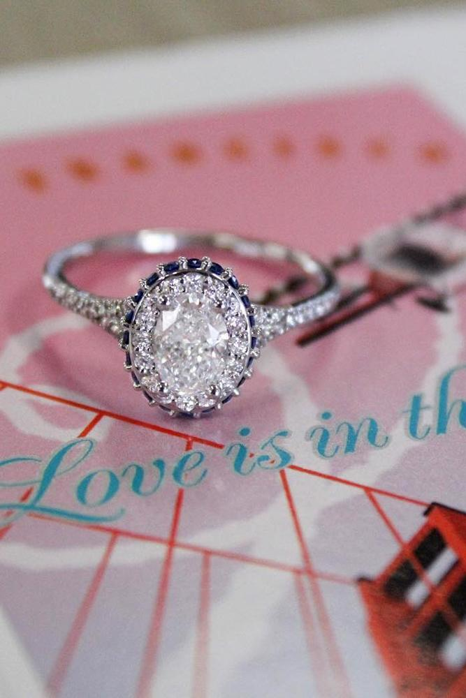 diamond engagement rings halo engagement rings with oval diamond
