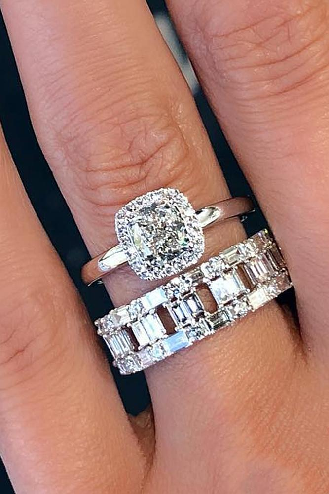 diamond engagement rings modern halo diamond set