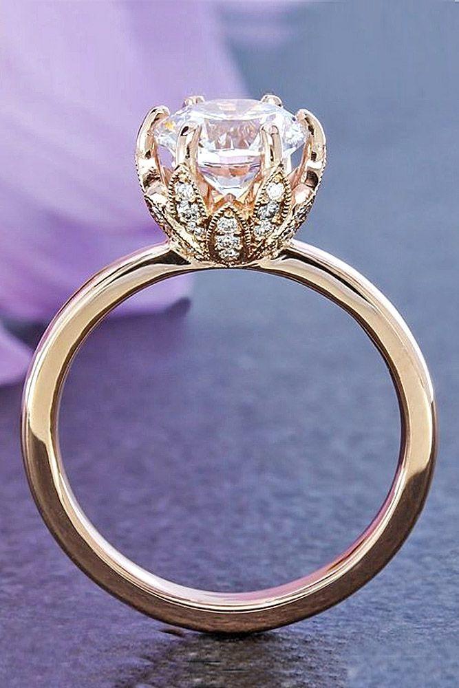 diamond engagement rings rose gold floral diamond ring