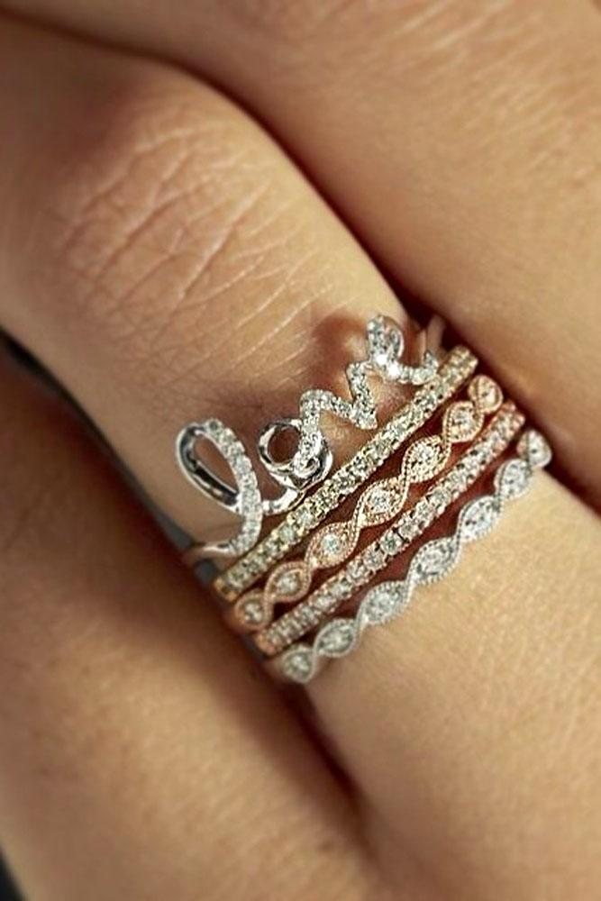 engagement ring wedding band set 18 best stackable wedding rings set more rings more shine 3910