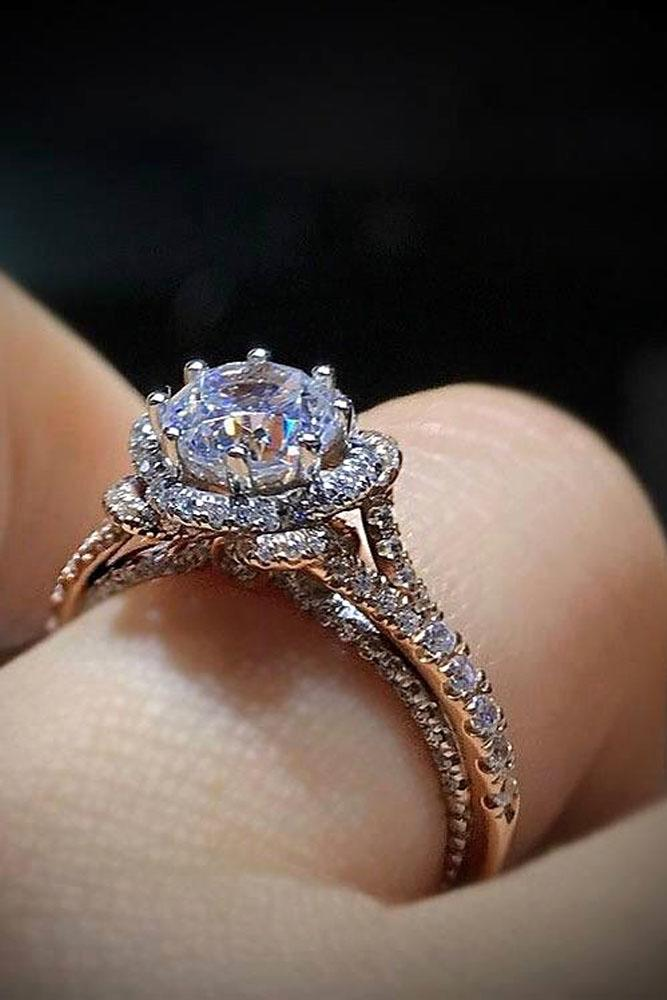 36 rose gold engagement rings by famous jewelers oh so