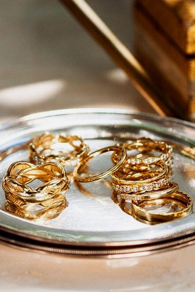 rose gold engagement rings set