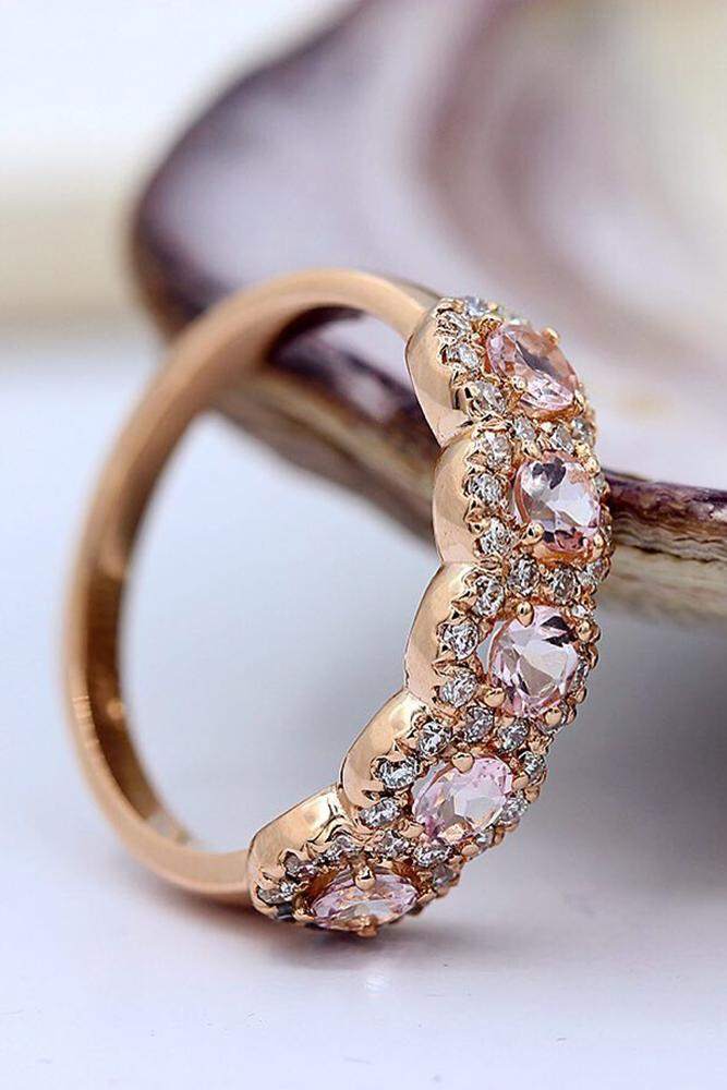 rose gold engagment rings diamonds vintage
