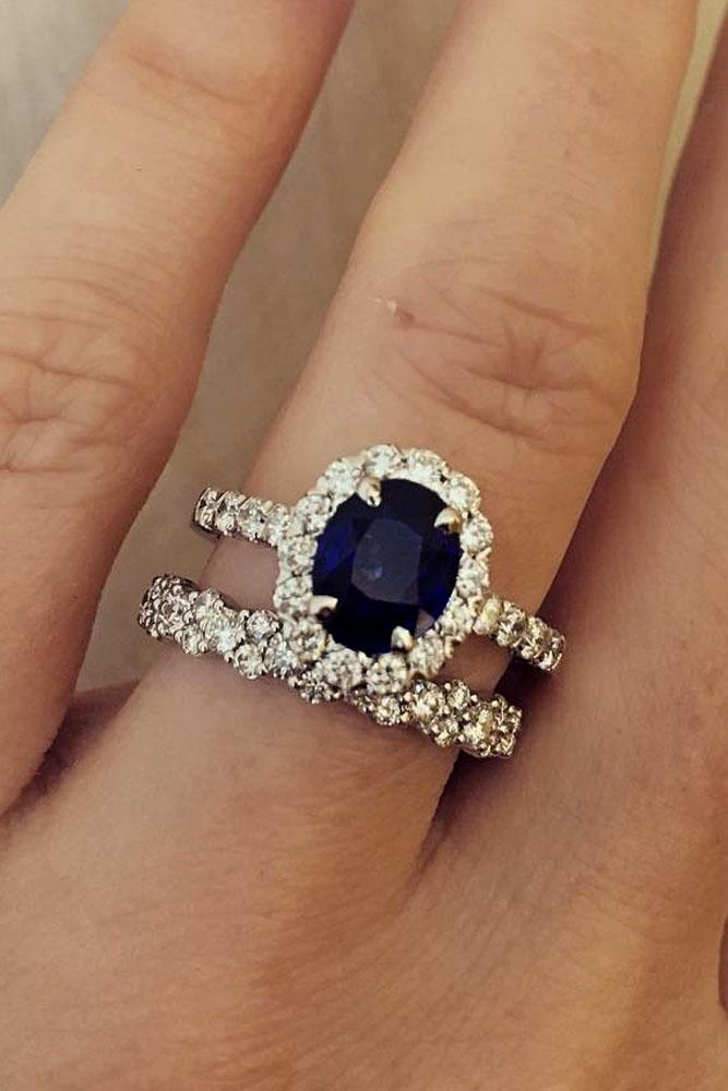 sparkly ring and engagement sapphire vintage special rings safire fetheray products diamond cluster