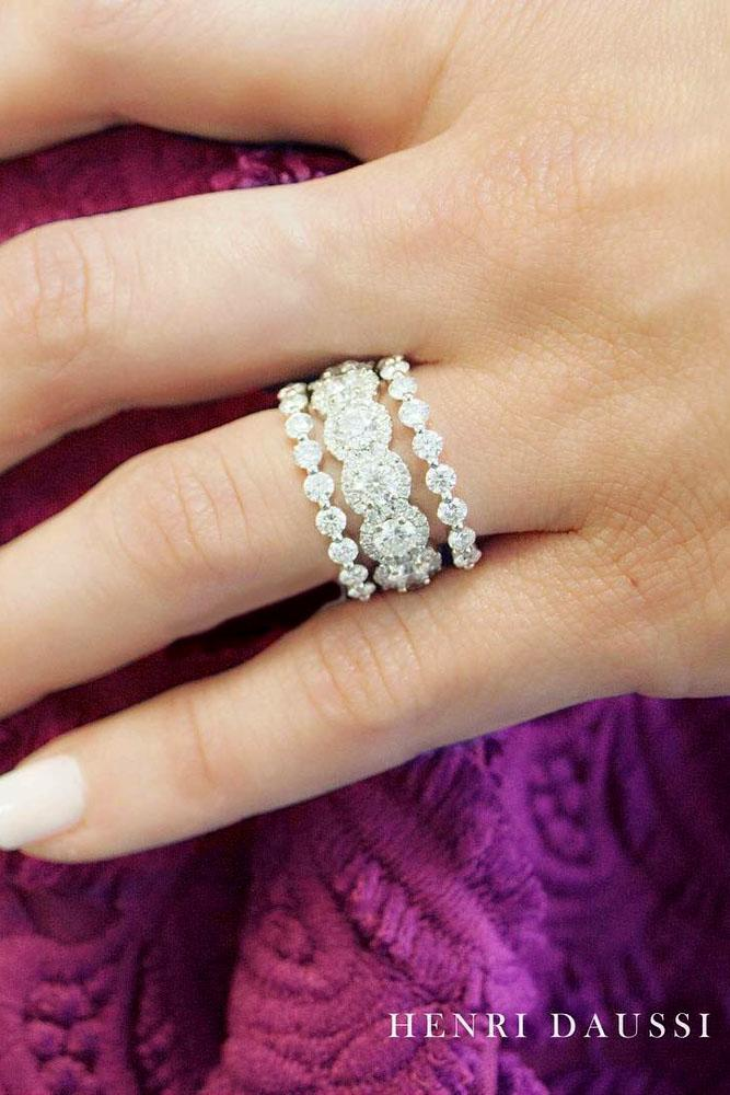 stack-able rings set with diamonds