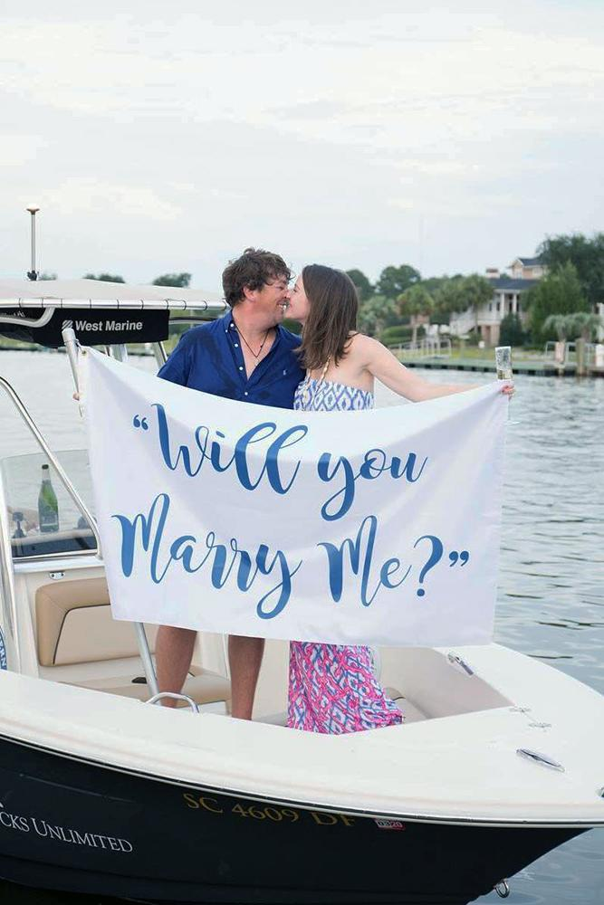 summer proposal ideas boat proposing with a scripture