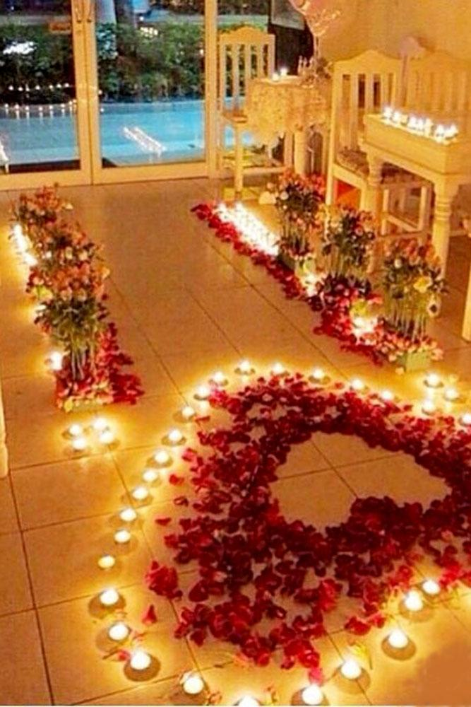 summer proposal ideas candles and flowers proposal decor