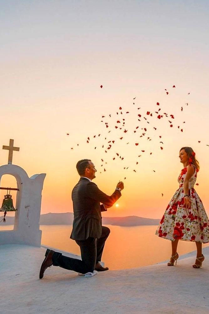 summer proposal ideas famous place santorini