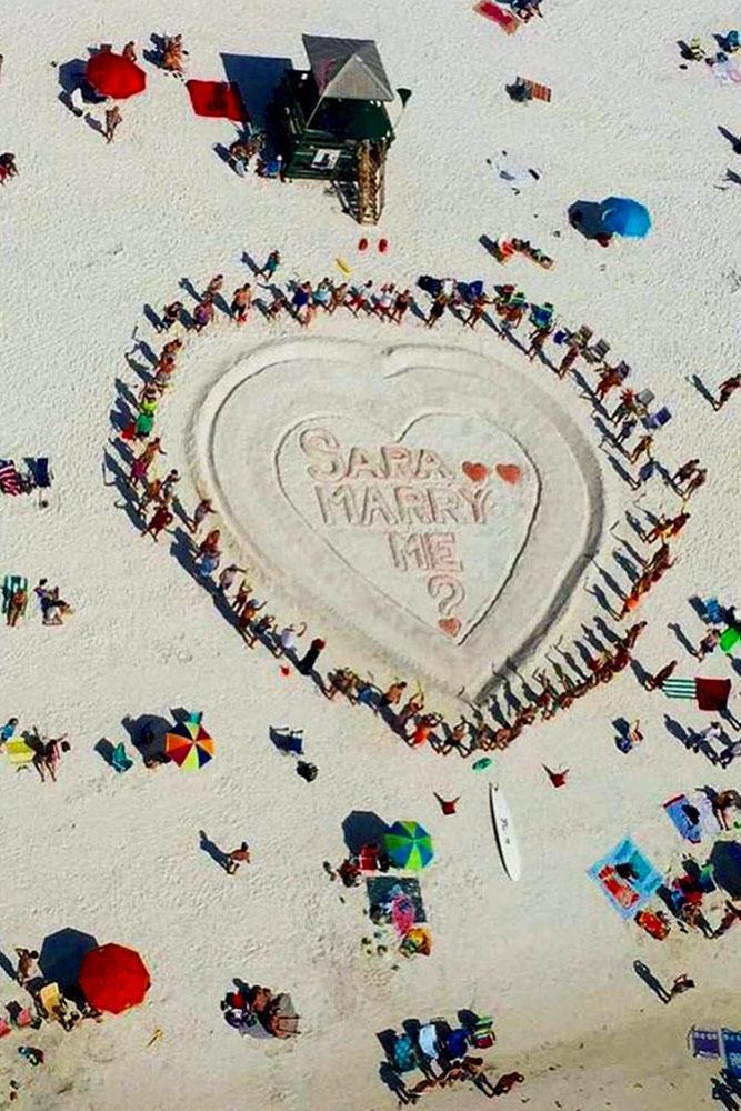 summer proposal ideas heart on the sand