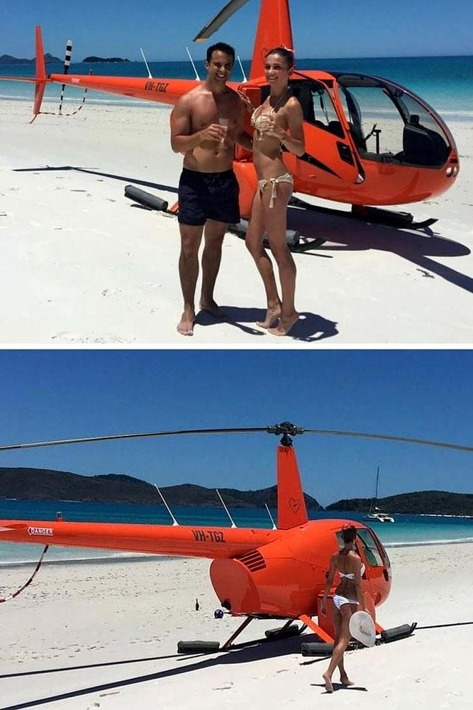 summer proposal ideas helicopter trip for two