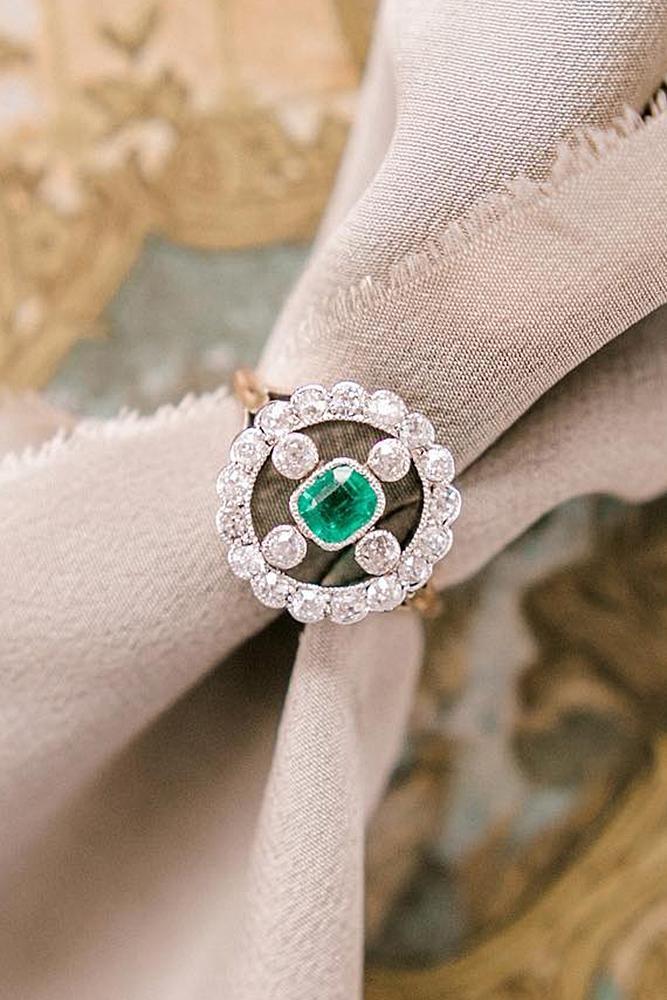 vintage engagement rings rose gold diamond gemstone