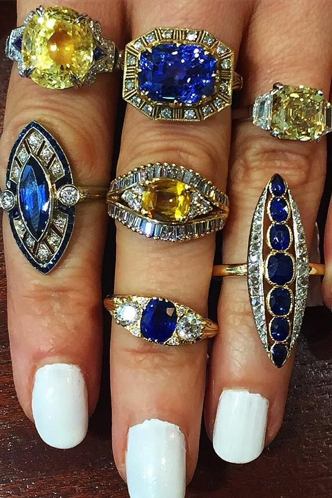 vintage engagement rings white gold and rose gold amazing gemstones in the centre halo vintage ring