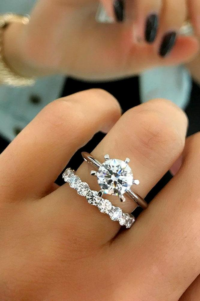 engagement ring wedding band set 24 excellent wedding ring sets for beautiful women oh so 3910