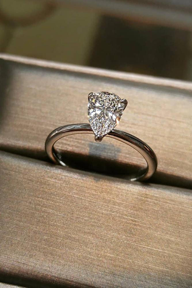 best engagement rings white gold engagement rings simple engagement rings pear cut diamond rings
