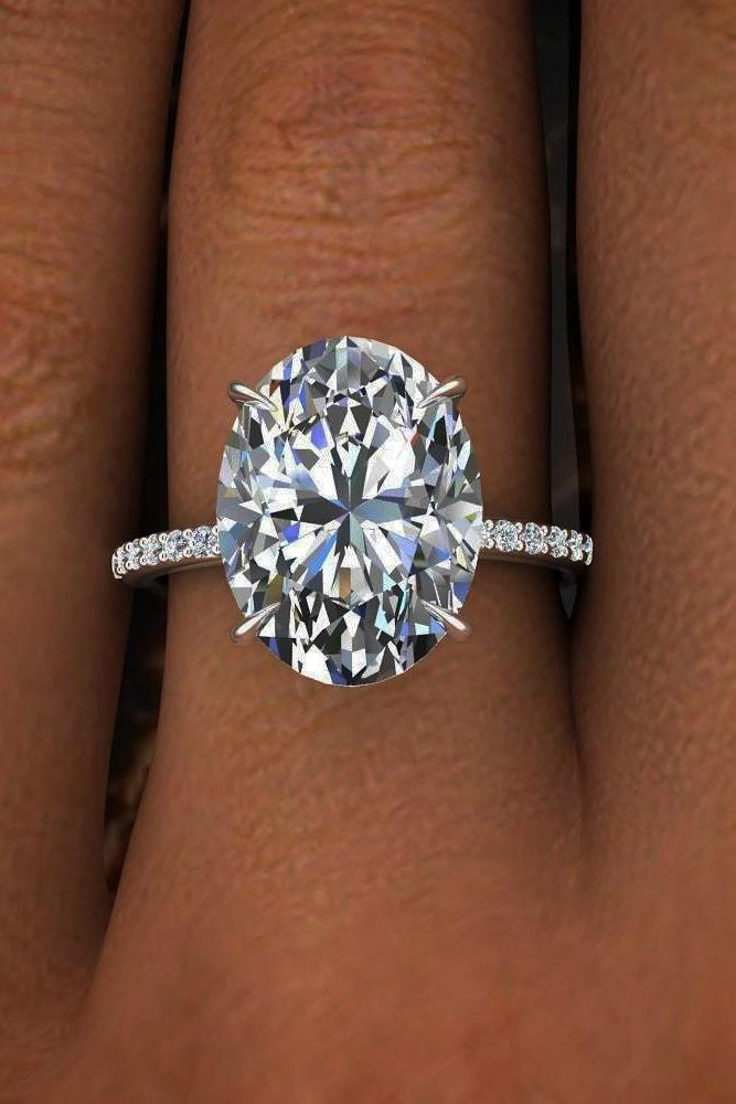 best engagement rings white gold oval cut diamond solitaire pave band classic chik