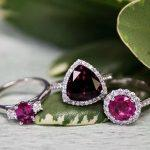 colored engagement rings pink sapphire