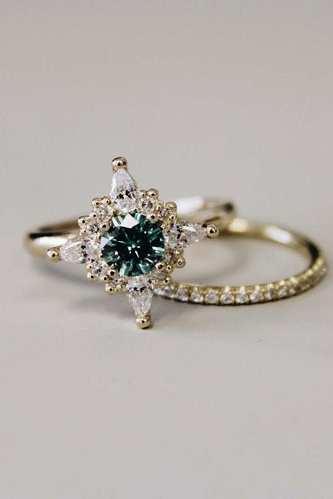 24 gorgeous colored engagement rings oh so perfect proposal. Black Bedroom Furniture Sets. Home Design Ideas