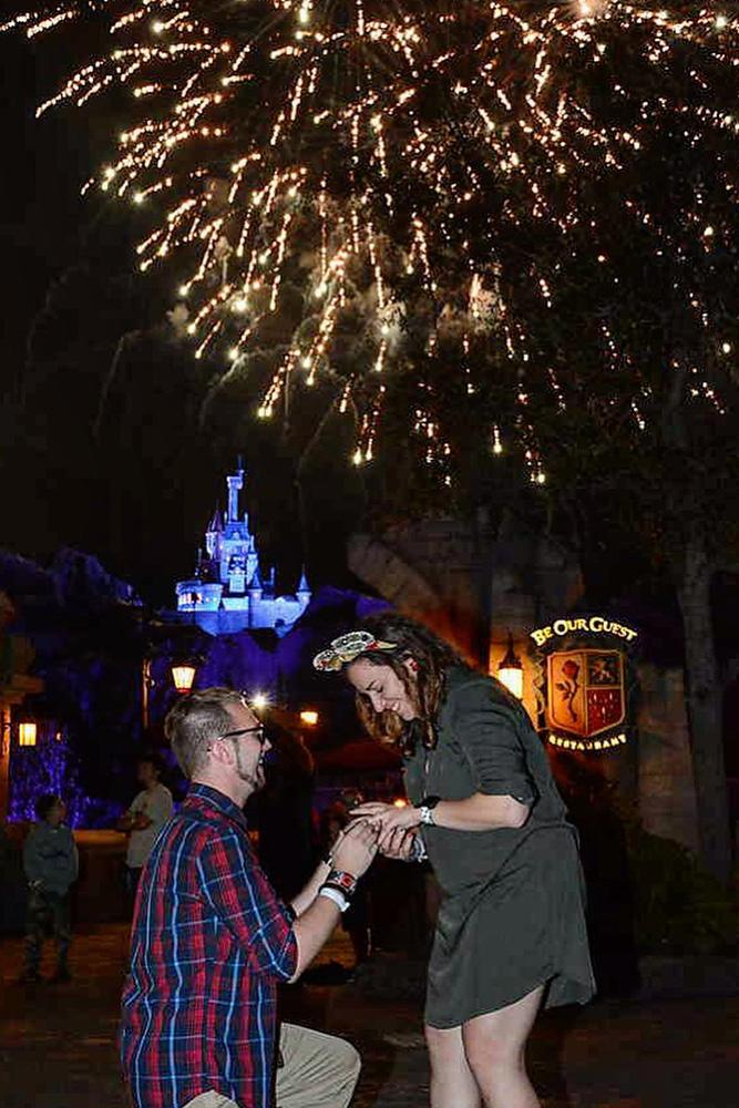 disney proposals couple propose engagement