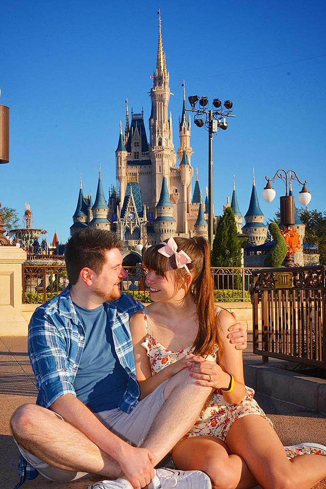 disney proposals engaged man and woman