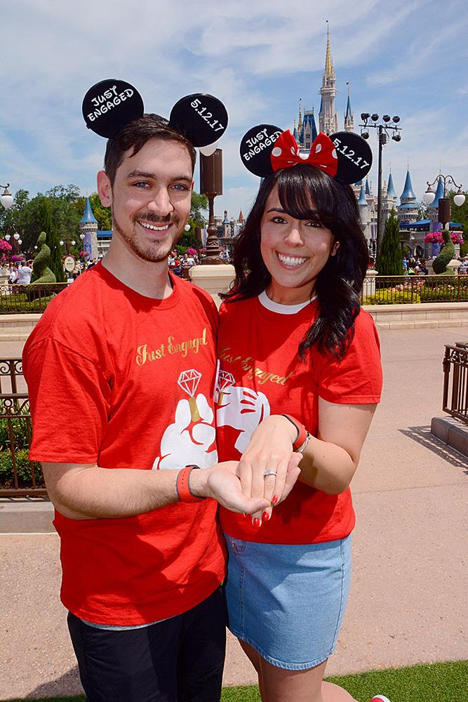 disney proposals engagement couple photo